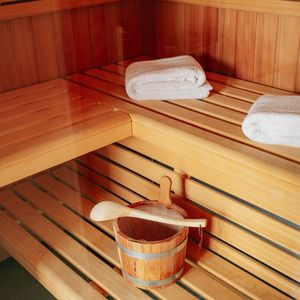 Sauna der Lodge