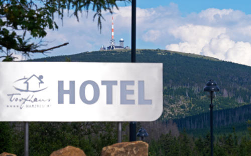 Hotelschild Brocken